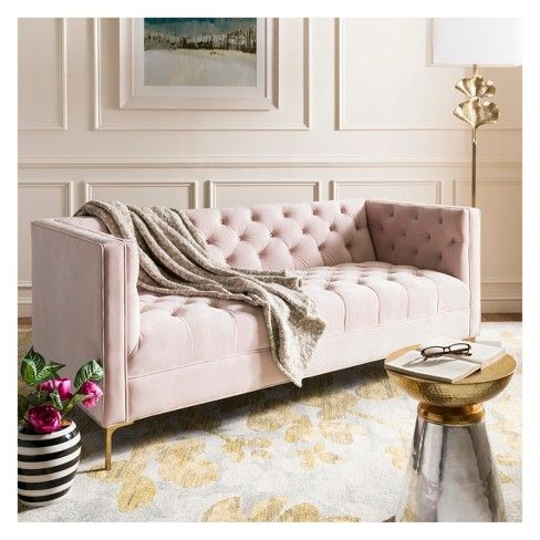 Enjoyable Vydia Velvet Tufted Sofa Safavieh Target Home In 2019 Caraccident5 Cool Chair Designs And Ideas Caraccident5Info
