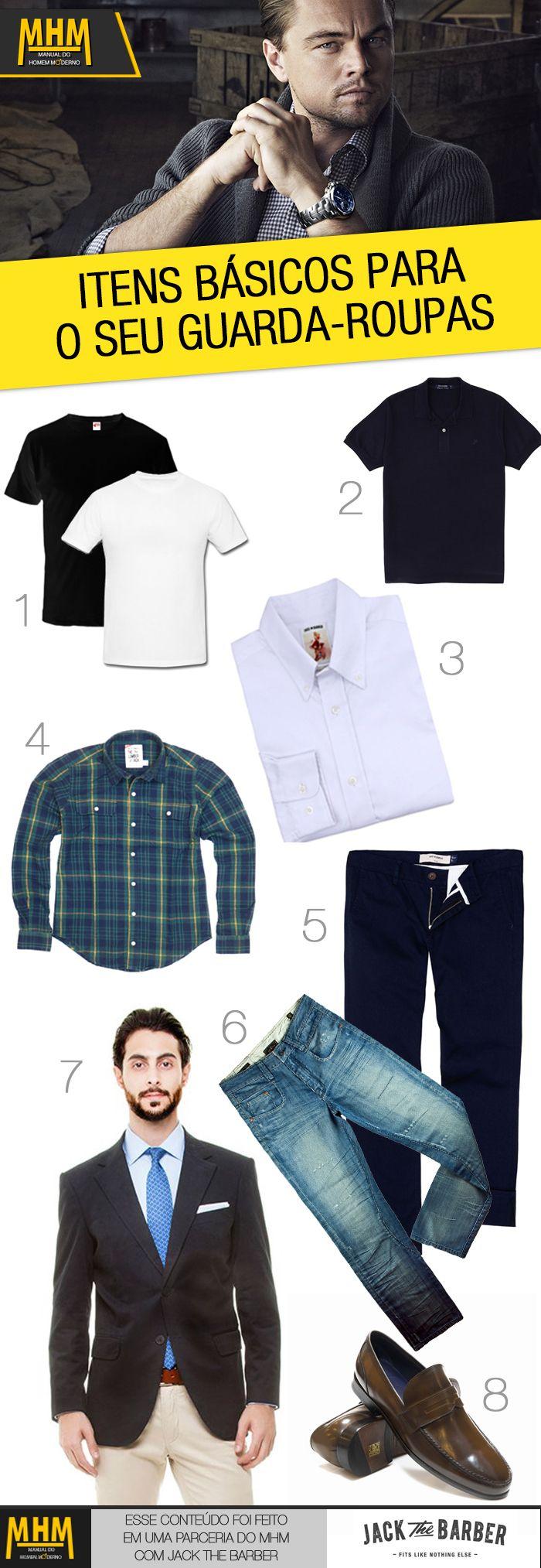 intas basicos para o guarda-roupas masculina