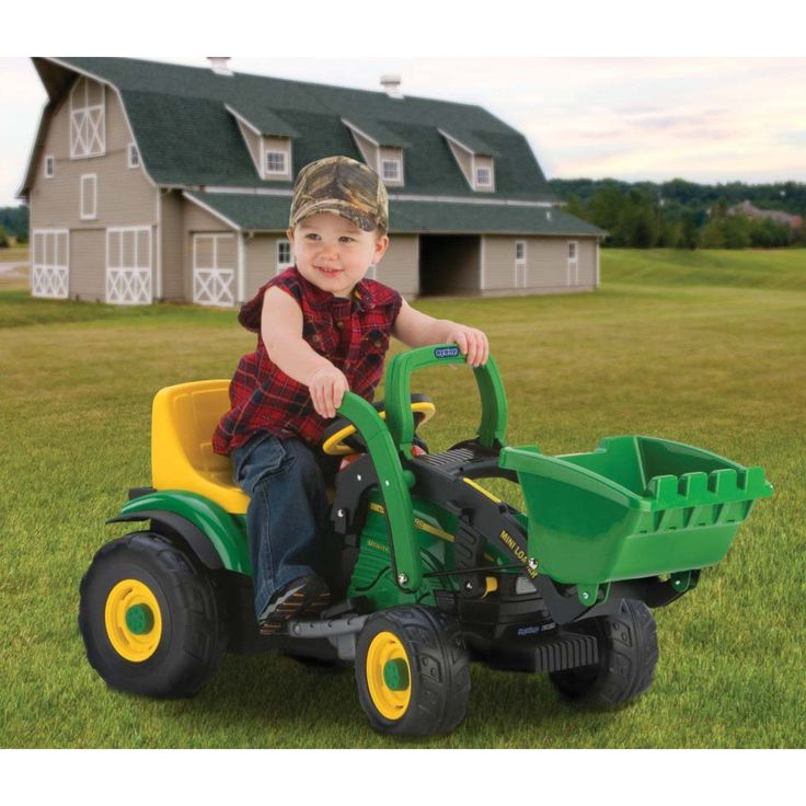 Peg Perego John Deere Mini Loader Tractor Battery Powered Riding Toy | from hayneedle.com