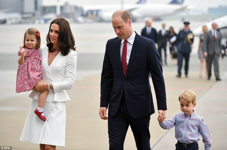 In her element! Princess Charlotte was having no issues with shyness as she waved happily to onlookers