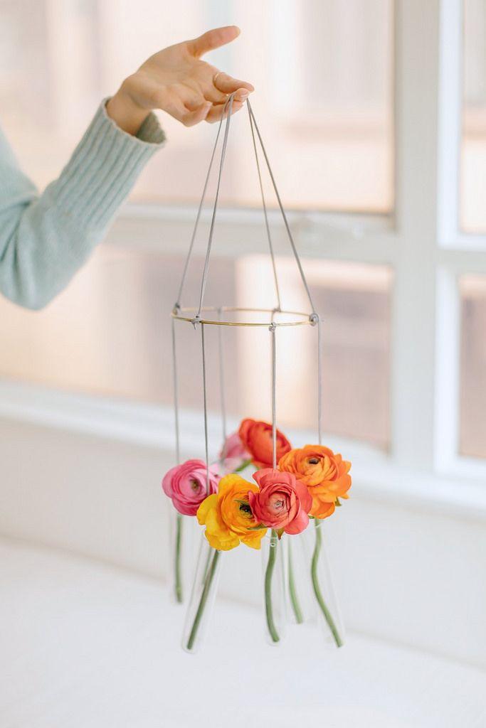 diy test tube vase chandelier - Decoration Tube A Essai Mariage