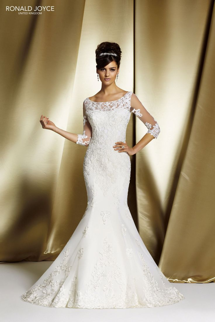11 best ronald joyce wedding dresses images on pinterest for Best wedding dress style for small bust
