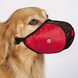 GUARDIAN GEAR SOFT SIDED DOG MUZZLE - MEDIUM / LARGE - BD Luxe Dogs & Supplies - 1 #DogMuzzle #DogSupply
