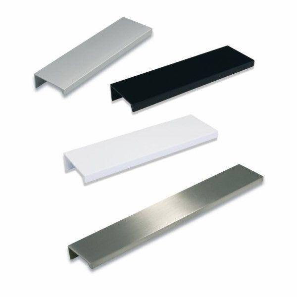 Suositut profiili Lungo-vetimet saatavina alumiini anodisoituna, valkoisena, mustana sekä rst-lookina. Pituudet 40mm:stä alkaen.