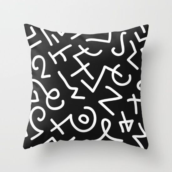 Buy Symbols Pattern Throw Pillow by werls. Worldwide shipping available at Society6.com. Just one of millions of high quality products available.