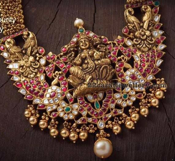 Antique Ruby Lakshmi Pendant - Jewellery Designs