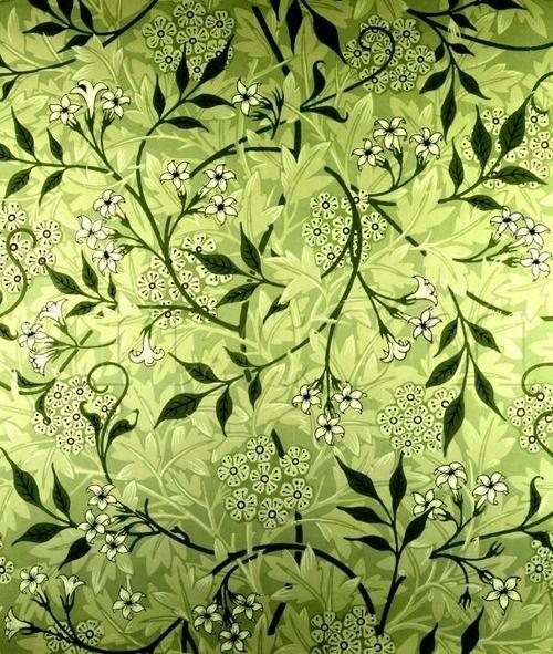 "indigodreams: 1872 William Morris (English Pre-Raphaelite textile designer, artist, writer, libertarian, and all around swell guy; ;1836-96) ~ ""Jasmine"" Wallpaper Design (a design near and dear to my heart)"