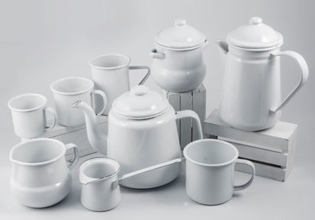Plain tea set - 9562