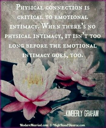 Intimacy physical touch