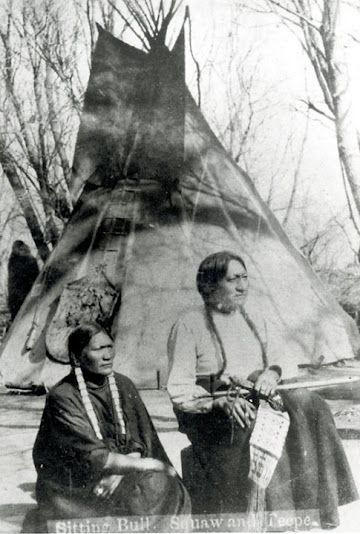 Sitting Bull and his wife, Seen By Her Nation - Hunkpapa - 1882