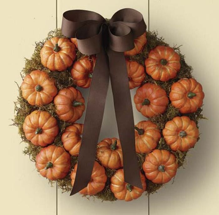 Williams Sonoma Pumpkin Patch Wreath - Top Fall Wreaths to Buy, Page 4