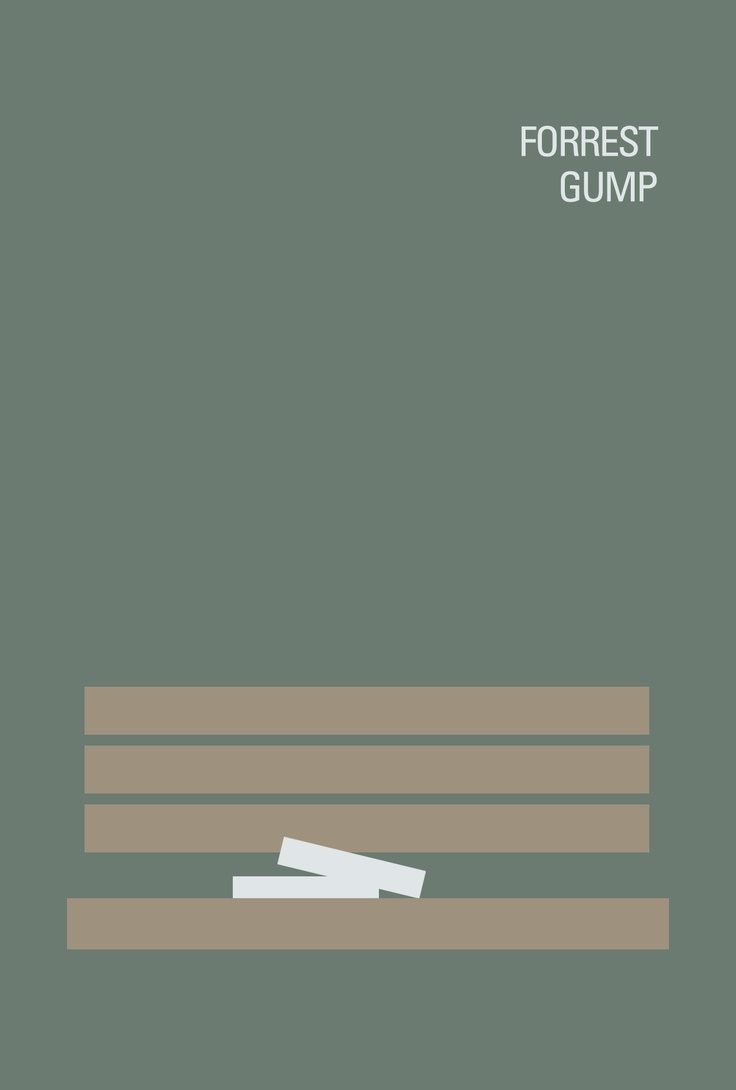 Forrest gump minimalist movie poster illustration and for Architecture definition simple