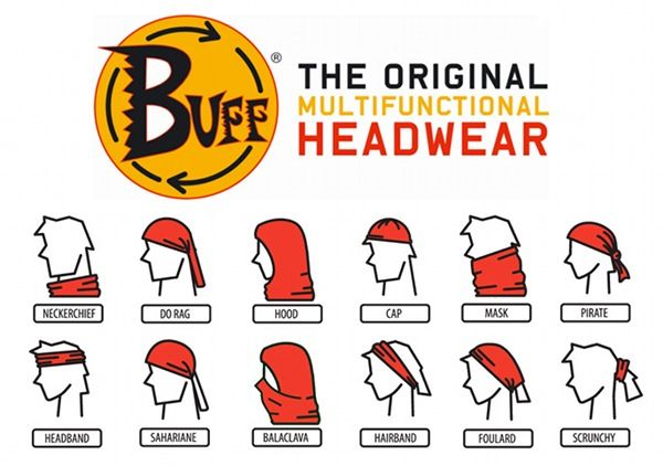 Great for protecting yourself from over exposure to the elements!  Tons of different ways to wear your Buff!