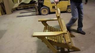 Adirondack Chair Plans Amish folding adirondack chair plans - Woodworking Challenge #WoodworkingIdeasTo...