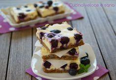 CHEESECAKE AI MIRTILLI E LIMONE ~ Un dolce che non ha bisogno di descrizioni, è facile da preparare, fresco e goloso. Cheesecake cotta ai mirtilli.