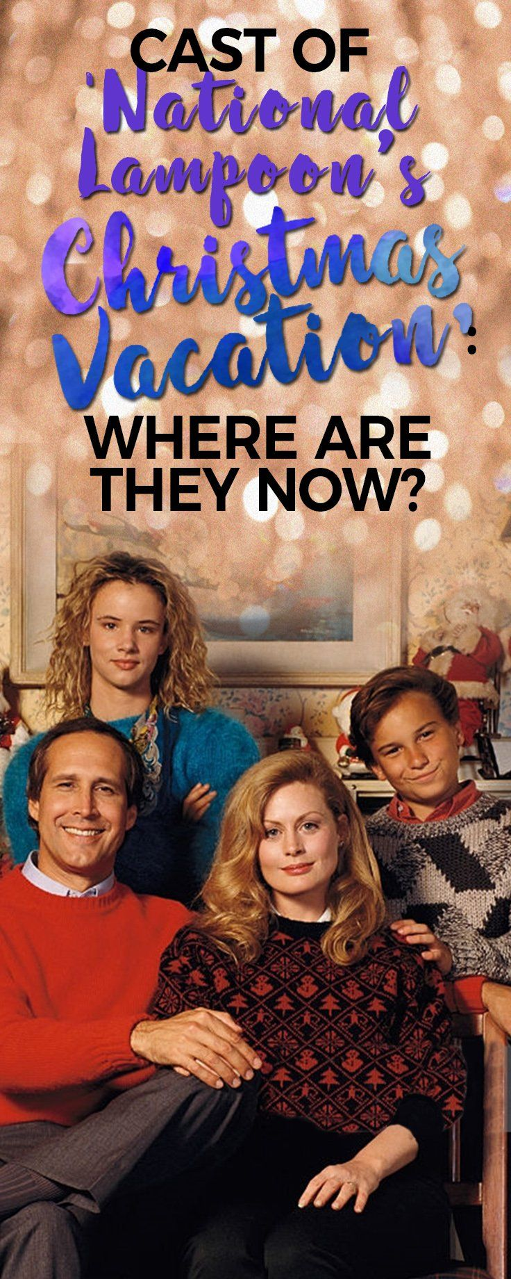 We may wonder where could these actors and actresses be? Like the old 'National Lampoons Christmas Vacation' cast. Take a look and find out.