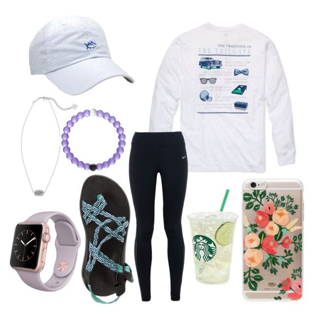 """Southern girl"" by jadenriley21 on Polyvore featuring Southern Tide, Southern Proper, Rifle Paper Co, NIKE, Chaco, Kendra Scott, women's clothing, women, female and woman"