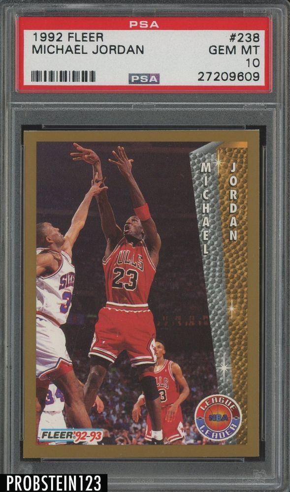 1992 93 Fleer Basketball 238 Michael Jordan Chicago Bulls PSA 10 GEM MINT MichaelJordan Sportscards