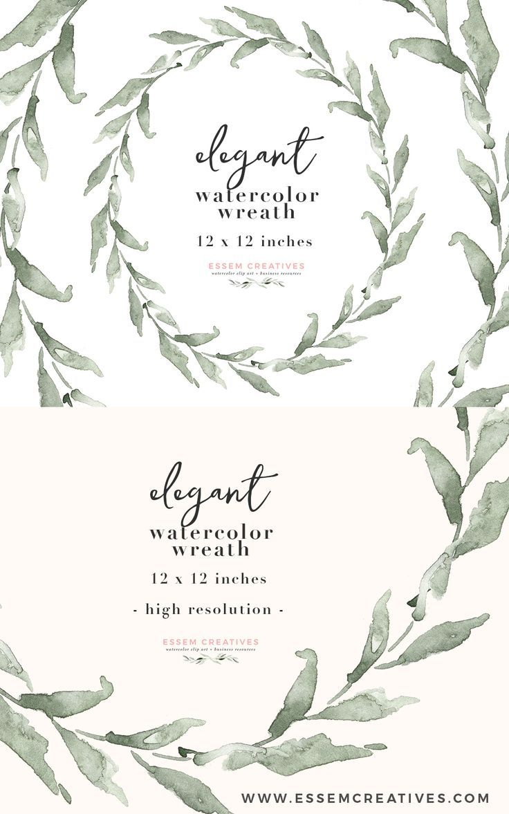 Wedding decoration png images  Watercolor Olive Wreath Clipart Eucalyptus Wreath PNG for Save the