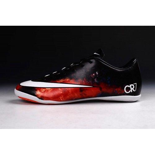 Nike Mercurial - футбольныебутсы Nike Mercurial Superfly CR7 IC черный красный новейший