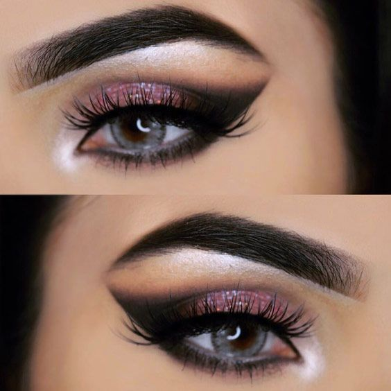 Do you have grey eyes and wonder what type of makeup will flatter you most? Well, here you can discover the most complimenting looks.  #makeup #makeuplover #makeupjunkie #eyemakeup
