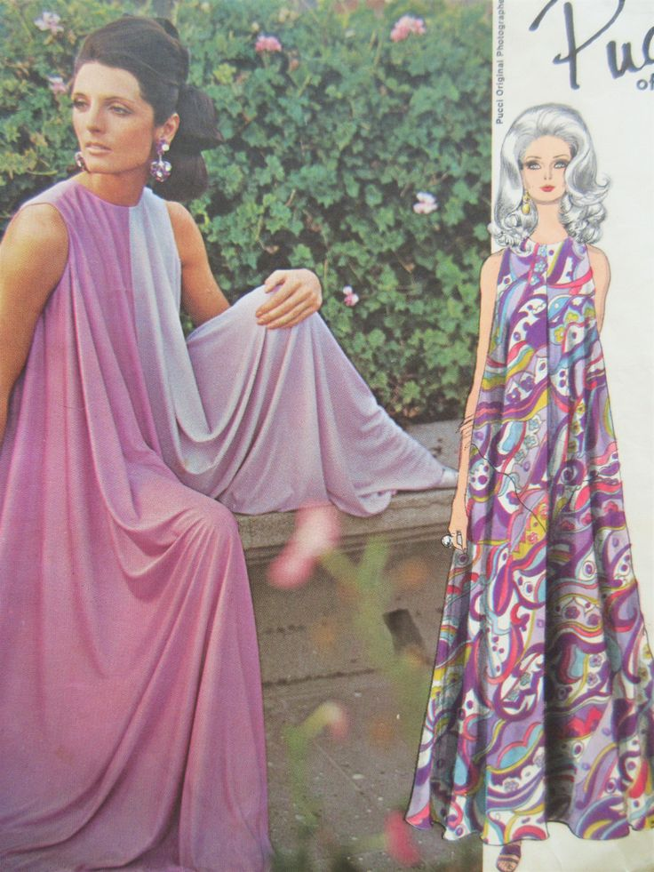 Vintage Vogue 1865 Sewing Pattern, Pucci Design, 1960s Jumpsuit, Culotte Pattern, Palazzo Pants Jumpsuit, Bust 34, 1960s Sewing Pattern by sewbettyanddot on Etsy
