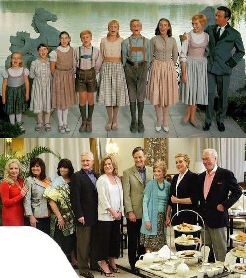 The Sound of Music cast - then and now