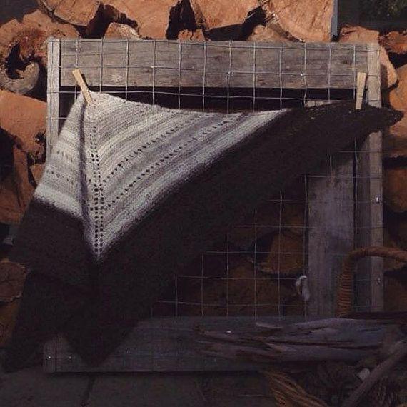 Hoarfrost - Handspun Wool Shawl