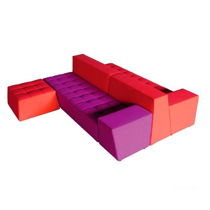 Colored unit type couch Palace by Casamania, Italy. Модульный диван Palace от итальянского производителя Casamania. #designinterior #interior #decor #mebelmr #couch