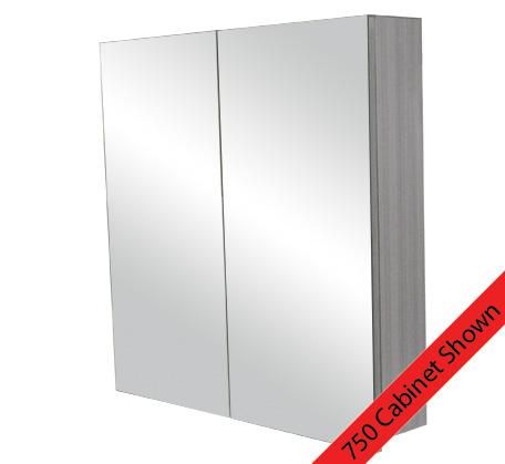 Logan 900 Mirror Door Shaving Cabinet - Grey Laminate | Bathroomware House