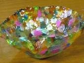 As you can tell, this is one of my favorite crafting sites to get step-by-step instructions on how to make things. Here's a cute melted bead bowl.