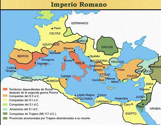 Ubicación geografica de Antigua Roma