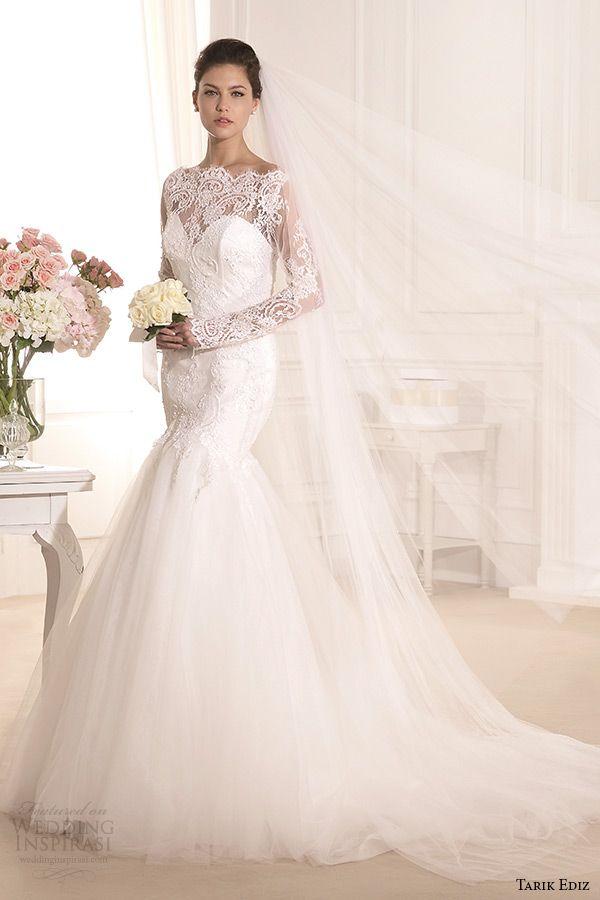 http://www.weddinginspirasi.com/2014/08/05/tarik-ediz-white-2014-bridal-collection-part-1/ Tarik Ediz 2014 #bridal collection: Kasimpati lace long sleeves mermaid #wedding dress #weddingdress #weddinggown