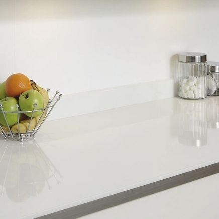 White Glass Effect upstand