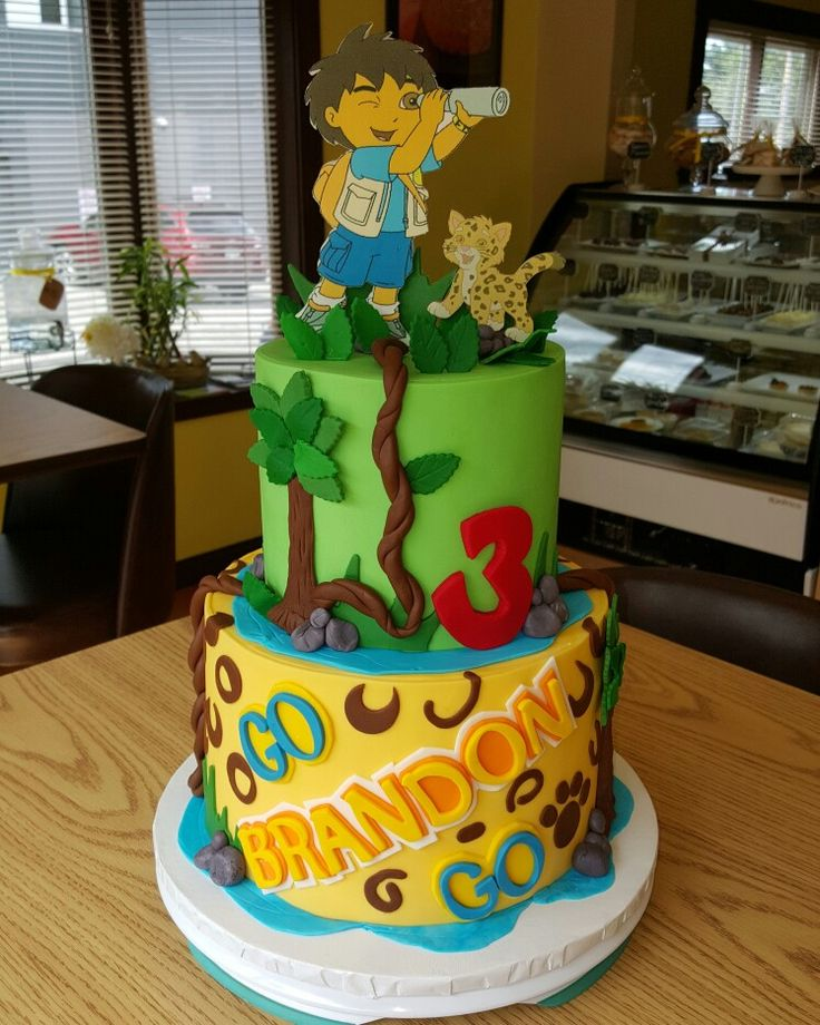 Best Go Diego Party Images On Pinterest Go Diego Go Birthday - Go diego go birthday cake