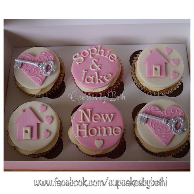 New Home cupcakes by Cupcakes by Beth, via Flickr  www.facebook.com/cupcakesbybeth1