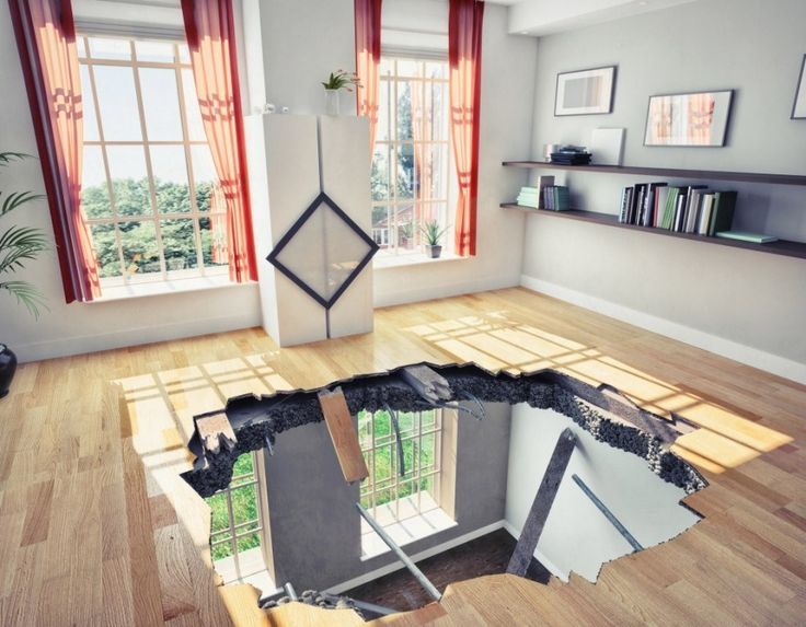 House Inspection is one of the most important step that must be taken after constucting the house. As you can see in this picture the floor was not made of in a proper manner or made of cheap materials, as a result it fall down. If someone makes the process of house inspection then he/she can avoid these kinds of dangerous accidents.