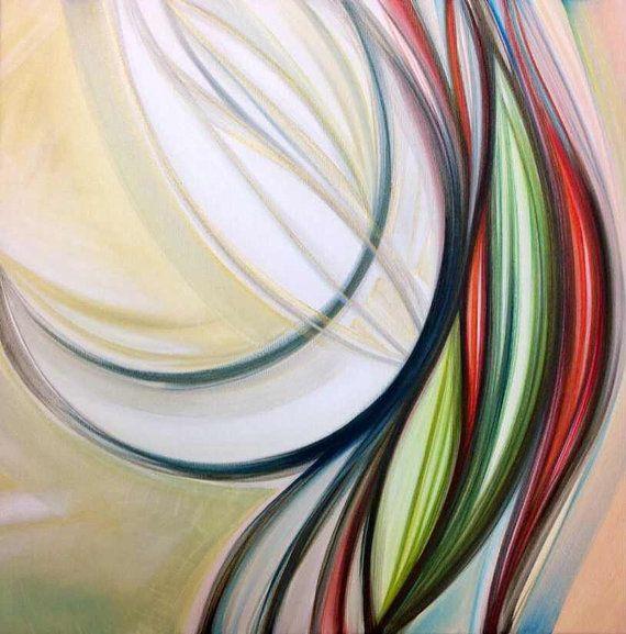 Pittura Astratta Acrilico su Tela Alta   di AriArtStudio su Etsy
