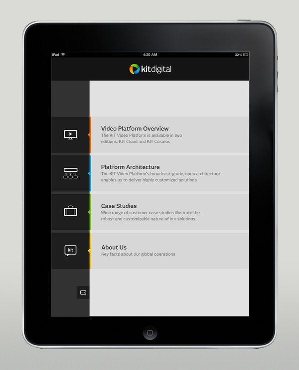 Kit Digital iPad app