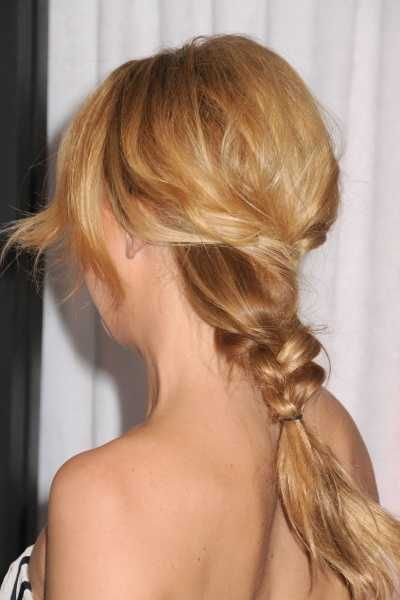 Kate Hudson's sexy low braided hairstyle | SheKnows CelebSalon