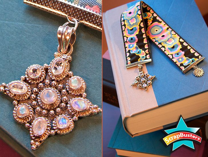 ScrapBusters: Embellished Ribbon Bookmarks | Sew4Home