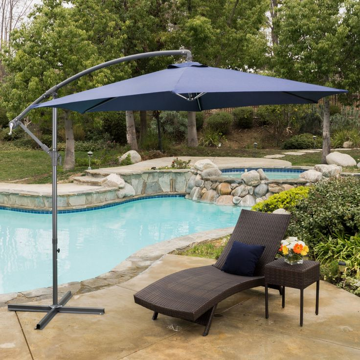 Best Selling Home Decor Furniture Maria 10 ft. Cantilever Patio Umbrella - 296425