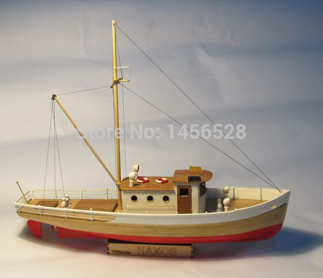 Classic wooden sailing boat scale model wood scale ship 1/50 NAXOS scale…