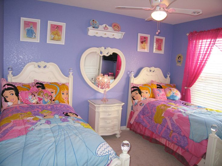 Disney Princesses Themed Bedroom | Disney Rooms, Princess Room And Disney  Style
