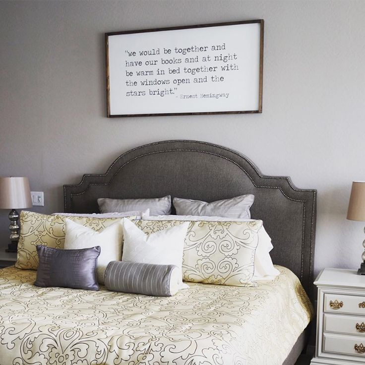 U0027s Beautiful Bedroom Complete With A Stoked Pewter King Bed