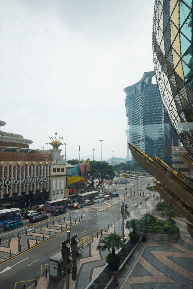 Looking out of the window of Grand Lisboa Casino – there is Old Lisboa too!