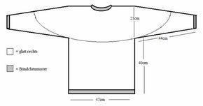 Strickanleitung Pullover mit Rundstricknadel zum Stricken und Häkeln