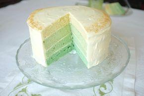 recette sans gluten de gâteau ombré pour la St Patrick, gluten free cake for St Patrick's Day.