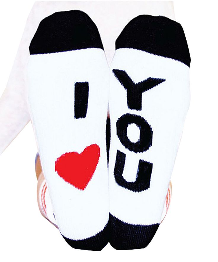 Loving this Arthur George by Robert Kardashian Black & Red 'I Love You' Crew Socks on #zulily! #zulilyfinds