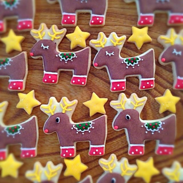 トナカイなアイシングクッキーわ作りました! - 86件のもぐもぐ - トナカイ♡アイシングクッキー by soramina